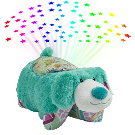 Pillow Pets Colorful Teal Puppy Sleeptime Lites