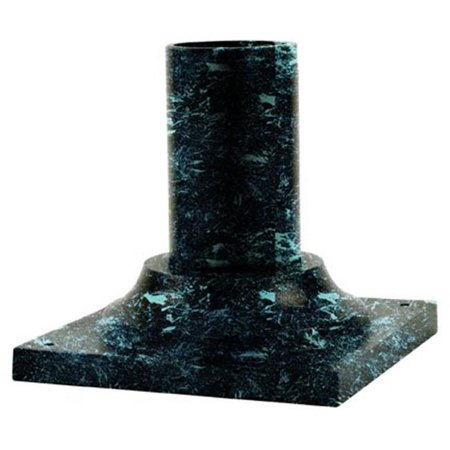 Lighting Pier Mount (Dabmar Lighting BS250-VG 3 in. Large Pier Mount Base, Verde Green)