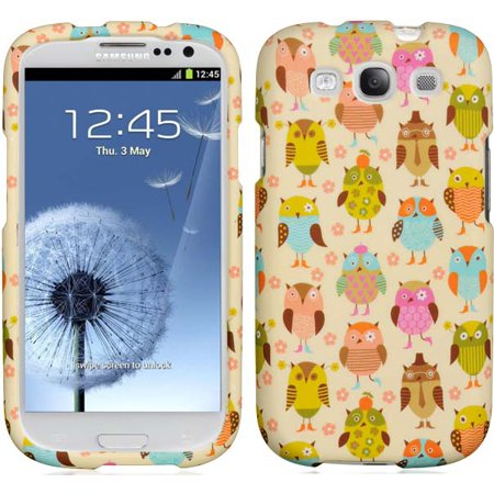 FANCY OWL PRINT LUXMO DESIGNER CASE HARD COVER FOR SAMSUNG GALAXY-S 3 III