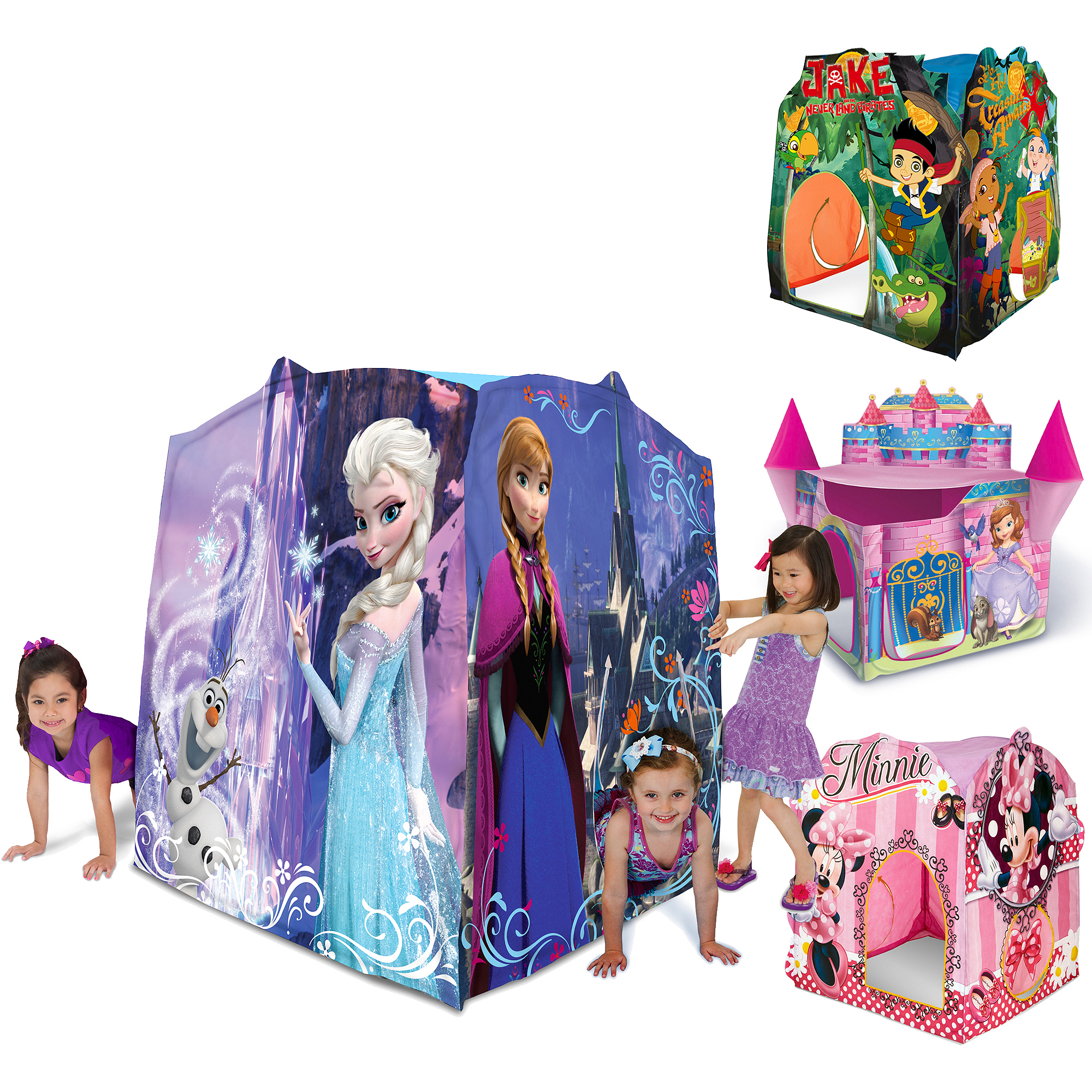 Disney Play Tent Characters- Frozen, Sofia, Jake, & Minnie