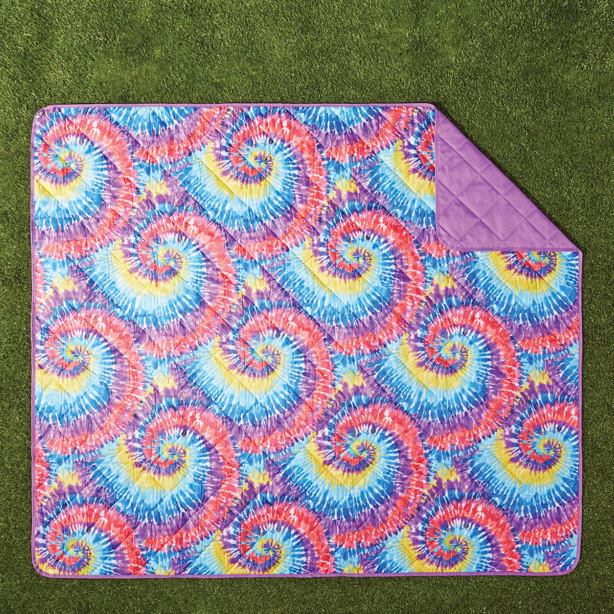 Mainstays Tye Dye Outdoor Blanket, 1 Each
