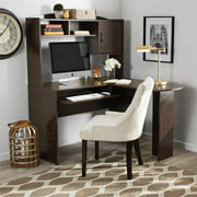 Ameriwood Home L-Shaped Desk with Hutch, Multiple Colors