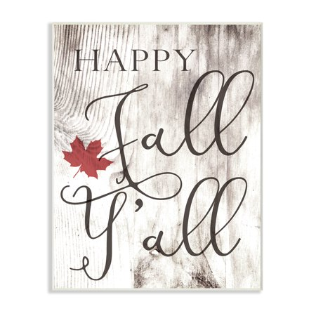 The Stupell Home Decor Collection Happy Fall Y