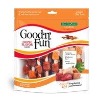 Good 'n' Fun Triple Flavored Kabobs Rawhide Dog Chews, 18 Count (12 Oz.)