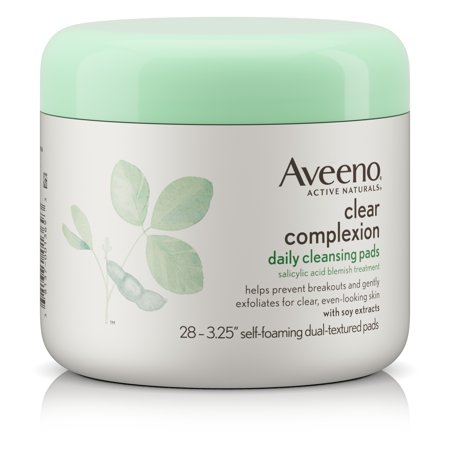 Aveeno Clear Complexion Daily Facial Cleansing Pads With Salicylic Acid Blemish Treatment, 28 Count