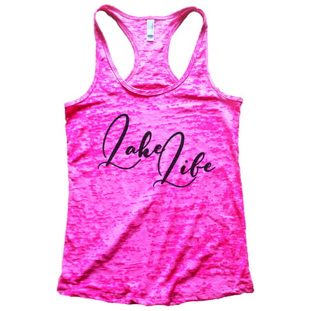 "Women's Cute Burnout ""Lake Life"