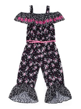 823391c6e32 Product Image Off the Shoulder Ruffle Sleeve Jumpsuit With Belt (Little  Girls)
