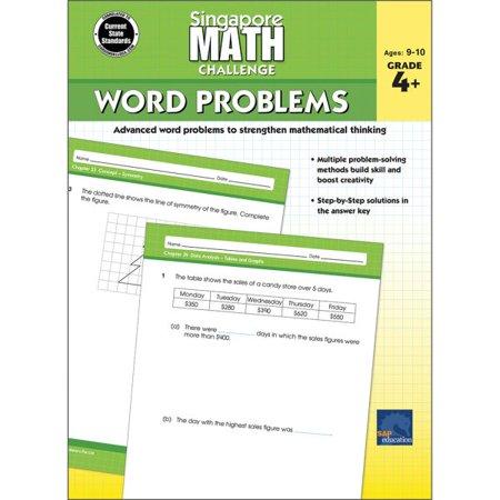 Singapore Math Challenge Word Problems, Grades 4 -
