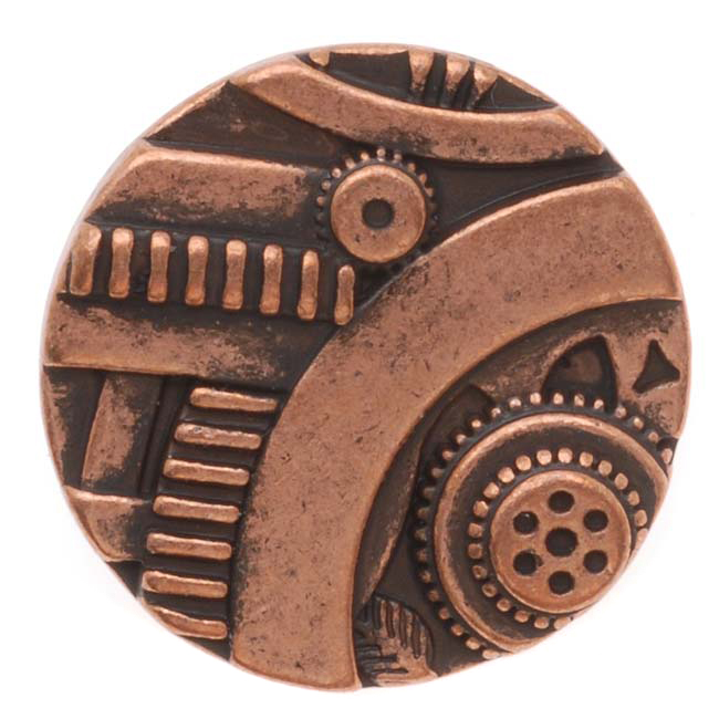 Antiqued Copper Steampunk Design Button 22.5mm (1)