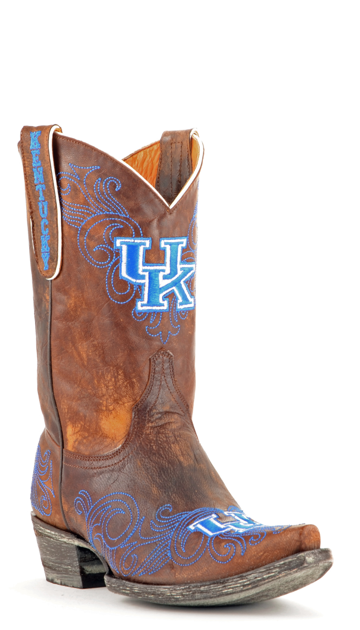 "Gameday Boots Women's 10"" Short Leather Kentucky Cowboy Boots 3738 New by GameDay Boots"