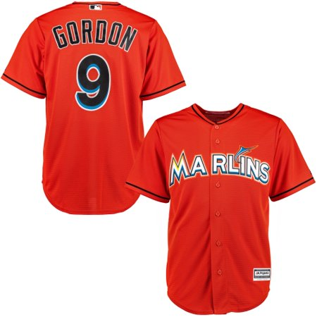 100% authentic 2b5f1 a7688 Dee Gordon Miami Marlins Majestic Alternate Cool Base Player ...