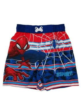 72cbcfa758 Product Image Spider-Man Marvel Toddler Boys Go Spidey! Swim Trunks Board  Shorts 2T