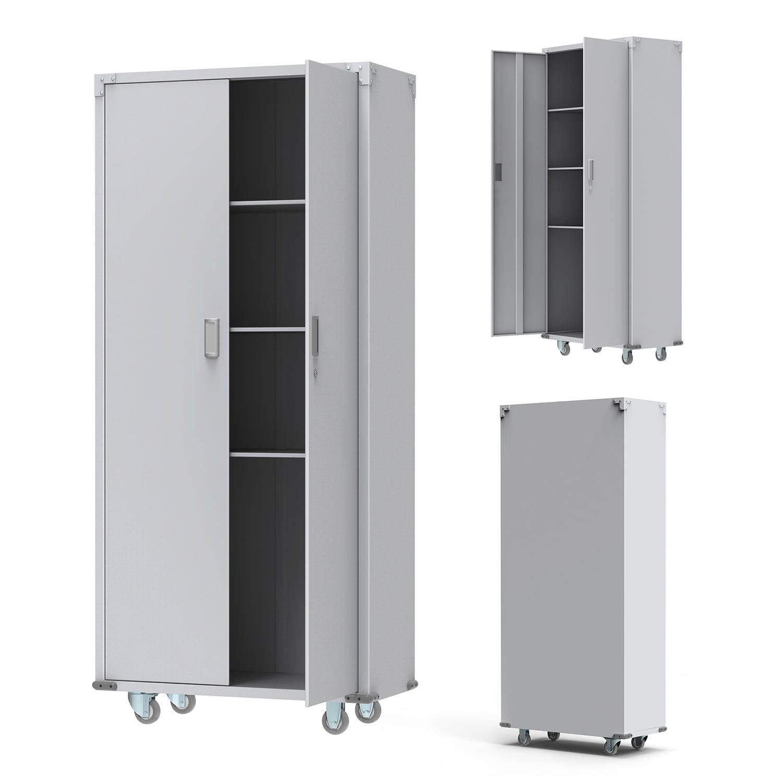 Ktaxon 74 Garage Storage Cabinets Heavy Duty Laundry Rolling Tool Corner Locker Chest Combo Storage Box On Wheels Walmart Com Walmart Com