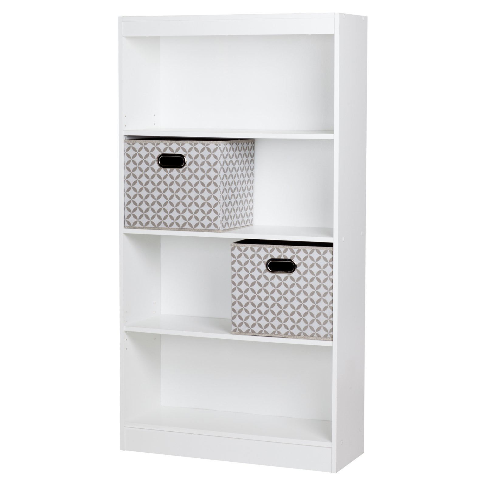 Axess 4 Shelf Bookcase with 2 Fabric Storage Baskets by South Shore by South Shore