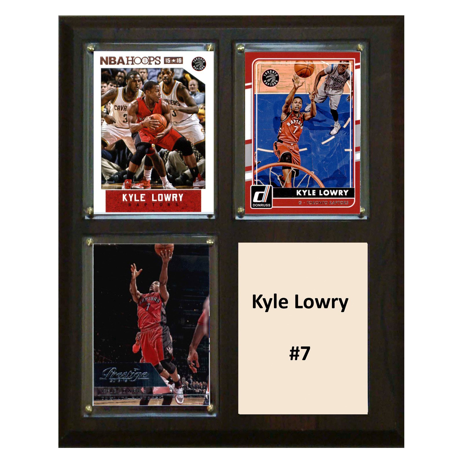 "C & I Collectables NBA 8"" x 10"" Kyle Lowry Toronto Raptors 3-Card Plaque"