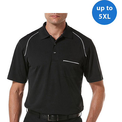 Ben Hogan's Big Men's Short Sleeve Piped Pocket Polo