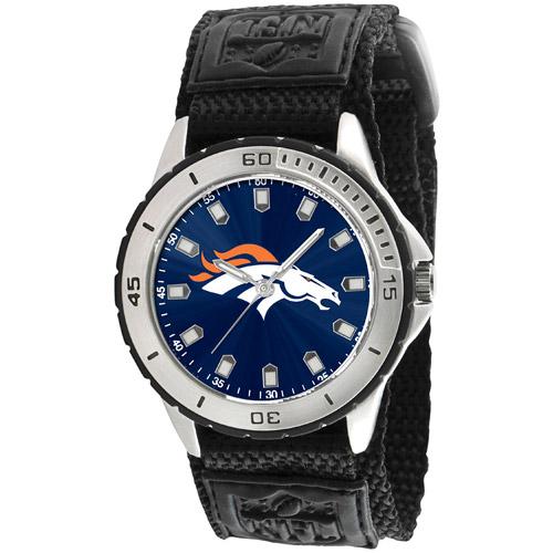 Game Time NFL Men's Denver Broncos Veteran Series Watch, Black Velcro Strap