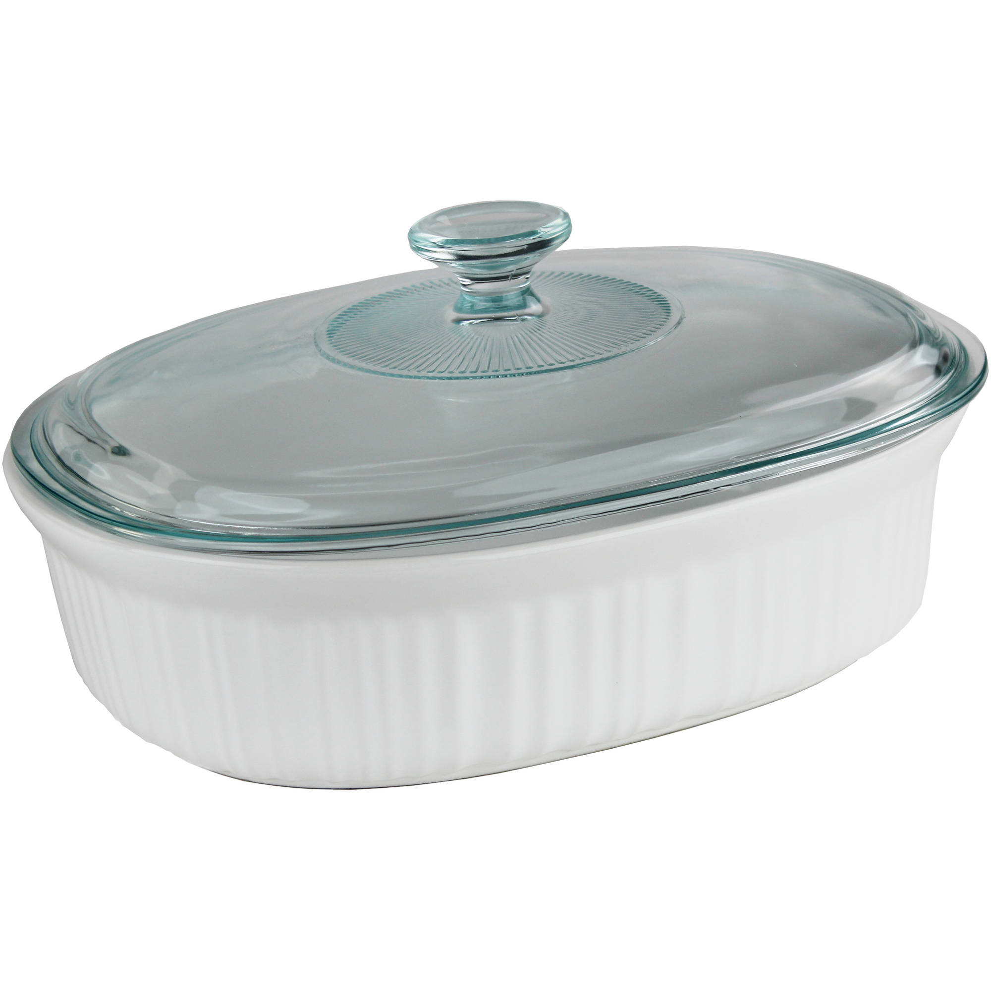 Corningware French White 2 5 Quart Oval Baking Dish With Gl Lid