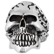 Hellfire Jewelry Hellfire Sterling Silver Prisoner of Anarchy Skull Ring