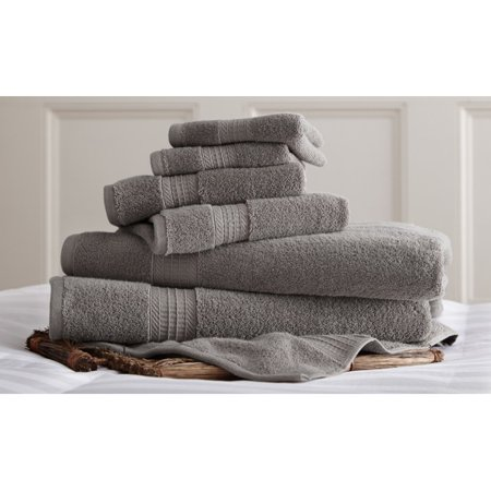 92f55880bcb 700 GSM Luxury Spa Collection 6 pc 100% Cotton towel sets Charcoal -  Walmart.com