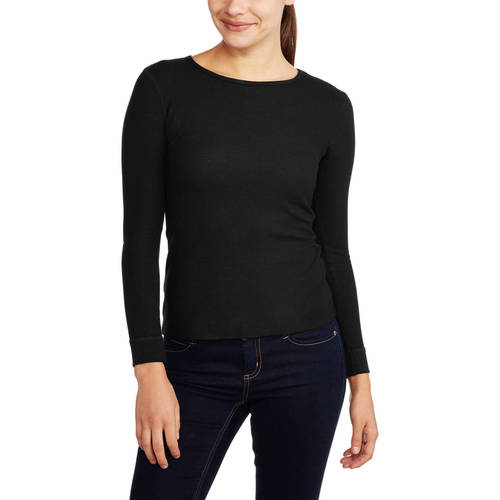 Womens and Womens Plus Waffle Thermal Underwear Crew Top