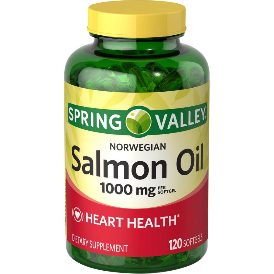 Spring Valley Norwegian Salmon Oil Dietary Supplement Softgels, 1000 mg, 120 count