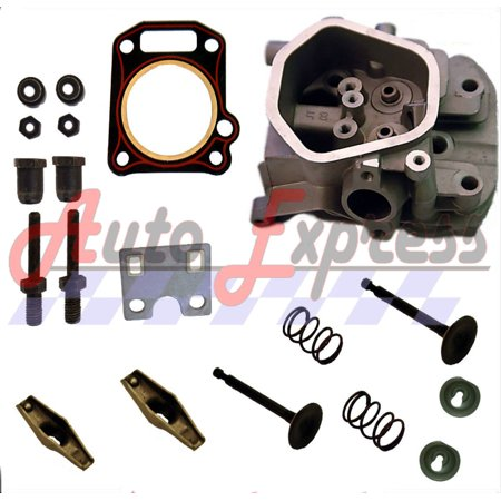 NEW Fits Honda GX390 13HP CYLINDER HEAD VALVES & SPRINGS GUIDE PLATE FREE HEAD GASKET