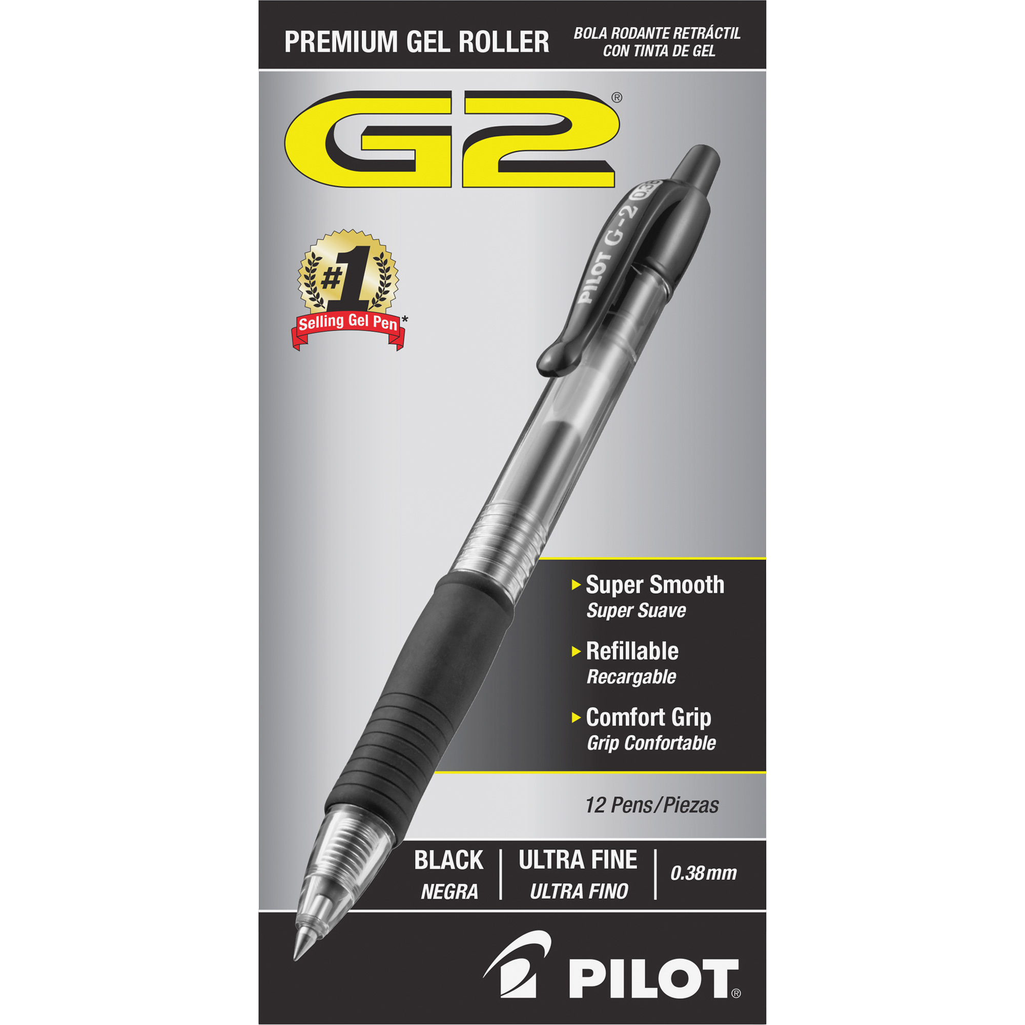 Pilot G2 Ultra Fine Retractable Pens, 1 Dozen (Quantity)
