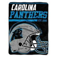 "Product Image NFL Carolina Panthers ""40-Yard Dash"" 46""x 60"" Micro Raschel f508dc8c9"