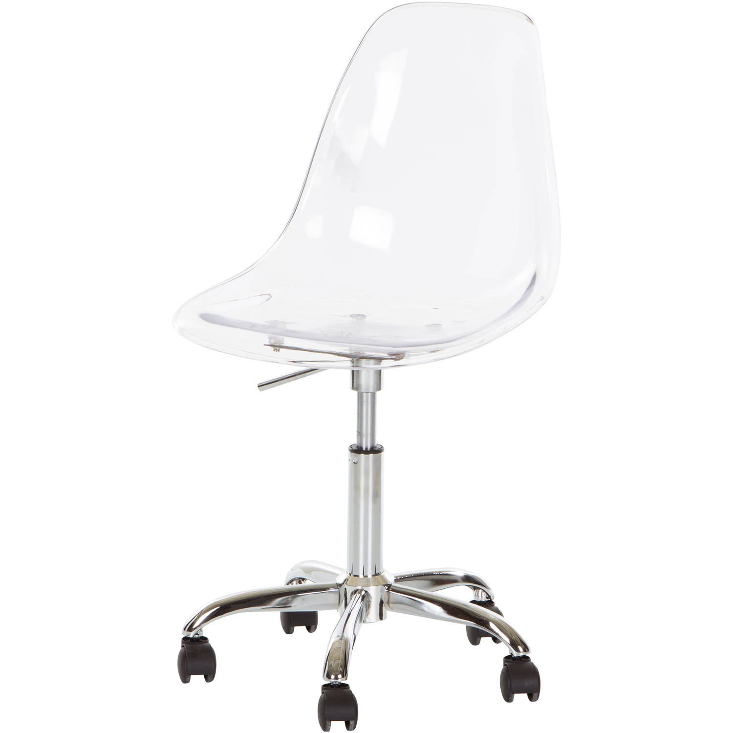 South Shore Annexe Clear Office Chair with Wheels Multiple Colors - Walmart.com  sc 1 st  Walmart & South Shore Annexe Clear Office Chair with Wheels Multiple Colors ...