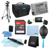 "Special LP-E8 Battery 10 pc Kit 32gb SD Card & Reader 60"" Tripod Deluxe Case, Lens Cleaning Kit & Pen, Professional Blower, Memory Card Wallet, Micro Fiber Cloth Canon Rebel T5i T3i T4i T2i"