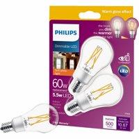 Philips Warm Glow A15 E17 Base LED Light Bulb