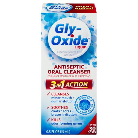 - Gly-Oxide Liquid Antiseptic Oral Cleanser, 0.5 FL OZ