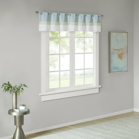 Home Essence Salem Polyoni Pintuck Lined Window Curtain Valance