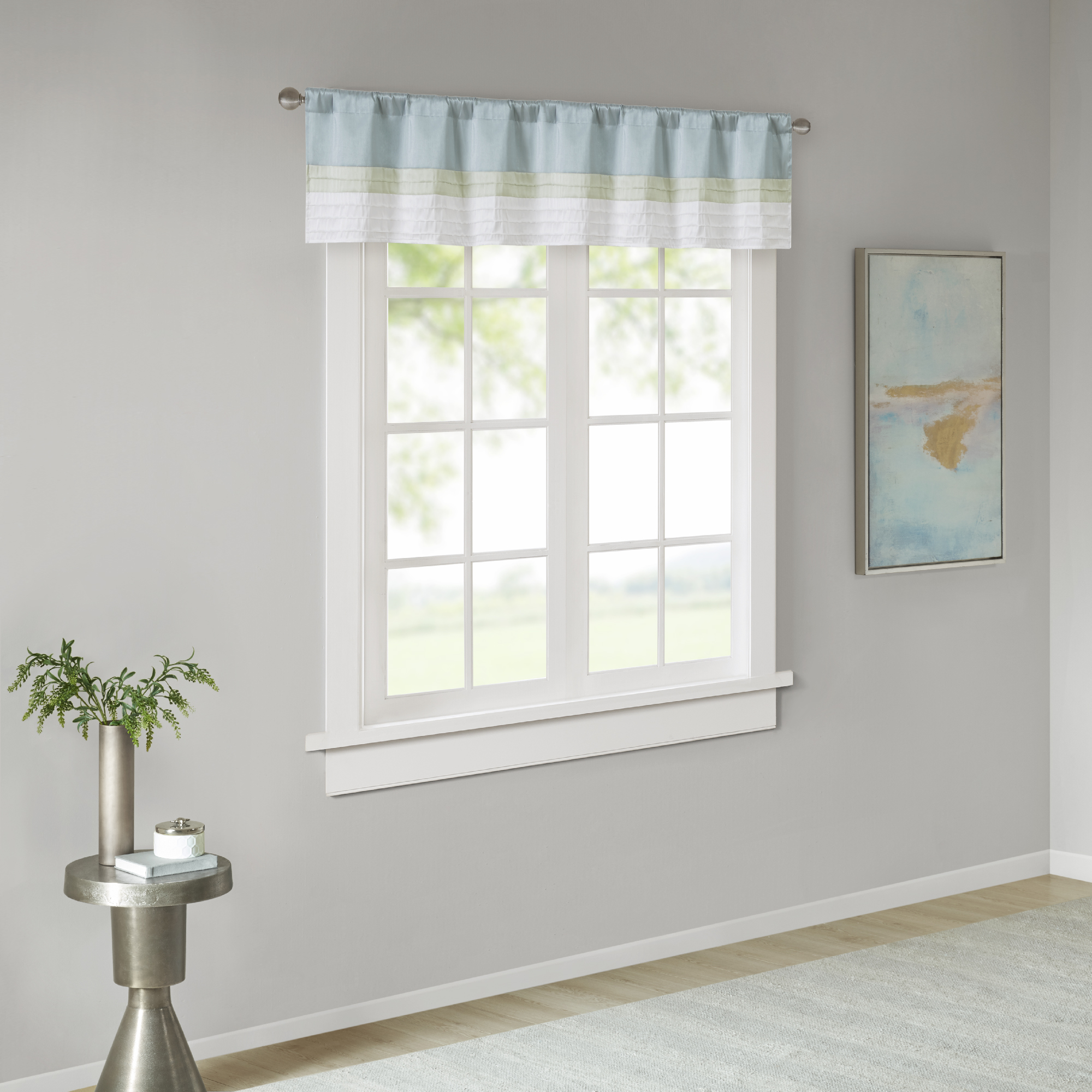 Home Essence Salem Polyoni Pintuck Lined Window Valance