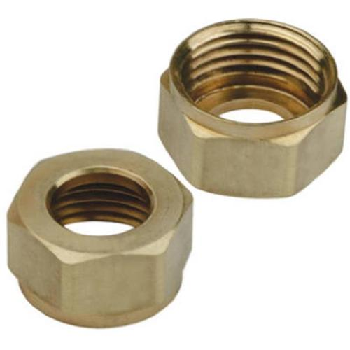 Brass Craft Service Parts SF0458 2-Pack Brass 1/2-Inch Iron Pipe Size Faucet Shank Nut
