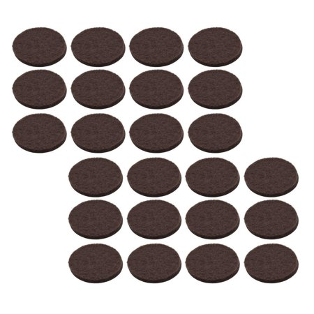 Stanley S845-299 1/2 Inch Round Medium Duty Self Adhesive Brown Felt Pads Pack of 24