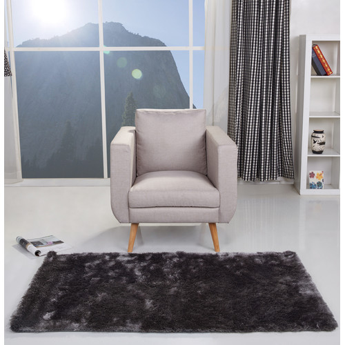 Gold Sparrow Charcoal Area Rug