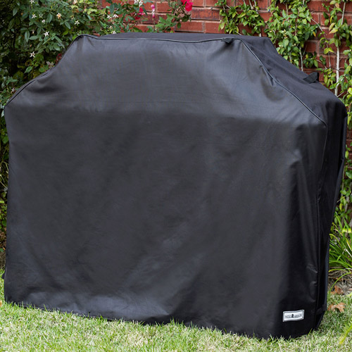 "Sure Fit 60"" Medium/Wide Premium Grill Cover, Black"