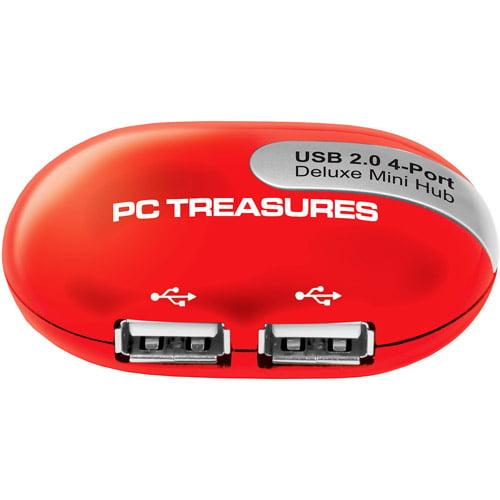 PC Treasures Mini USB 4 Port Hub