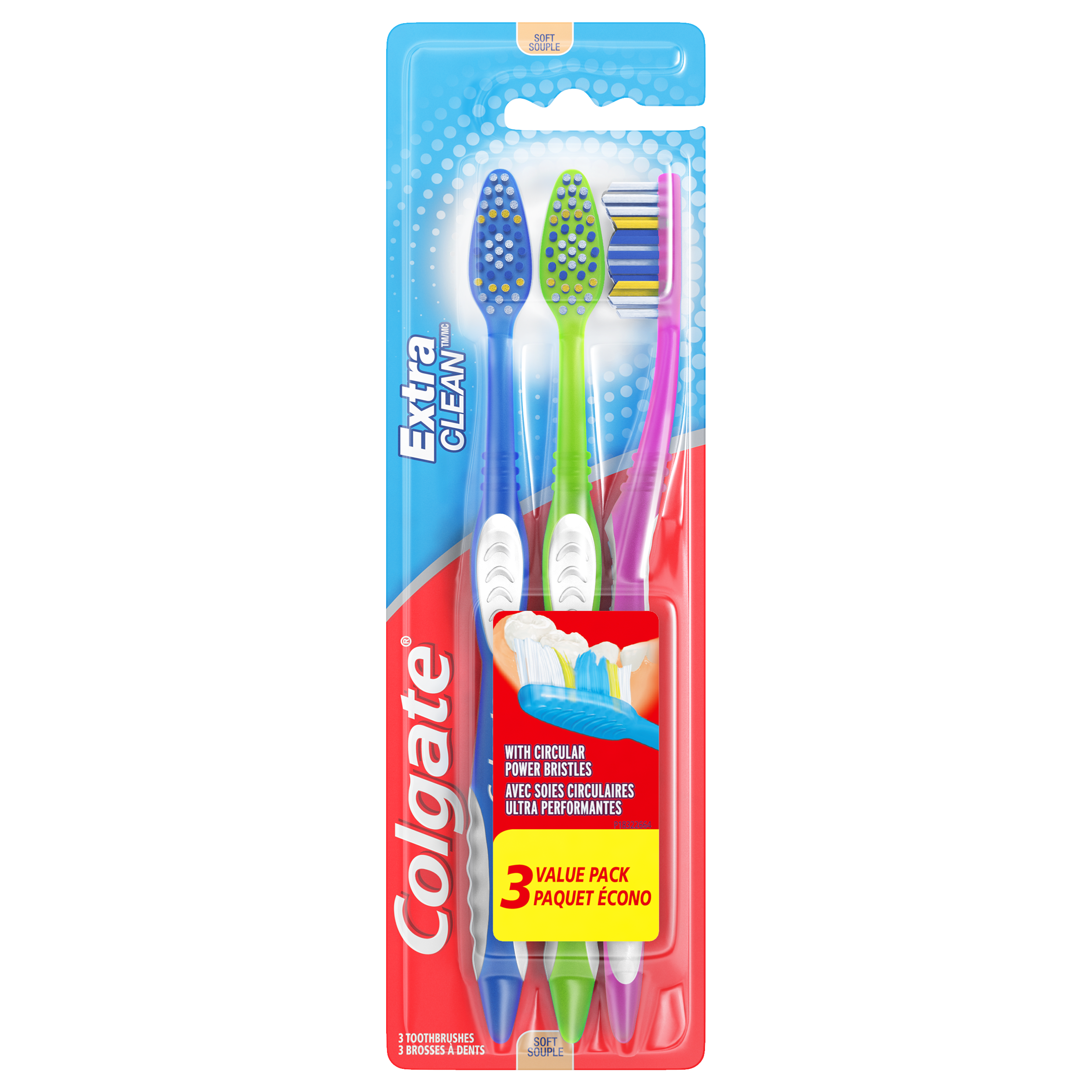 (Pack of 3) Colgate Extra Clean Full Head Toothbrush, Soft