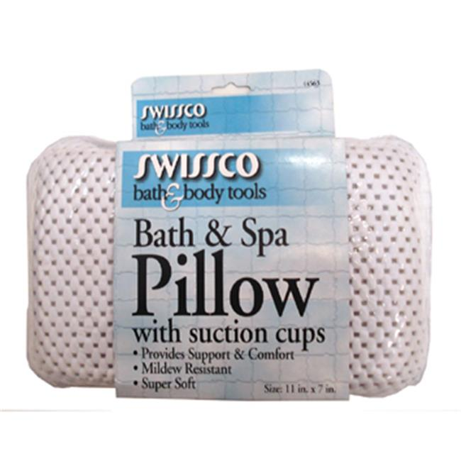 Swissco 44563 Bath and Spa Pillow with Suction Cups