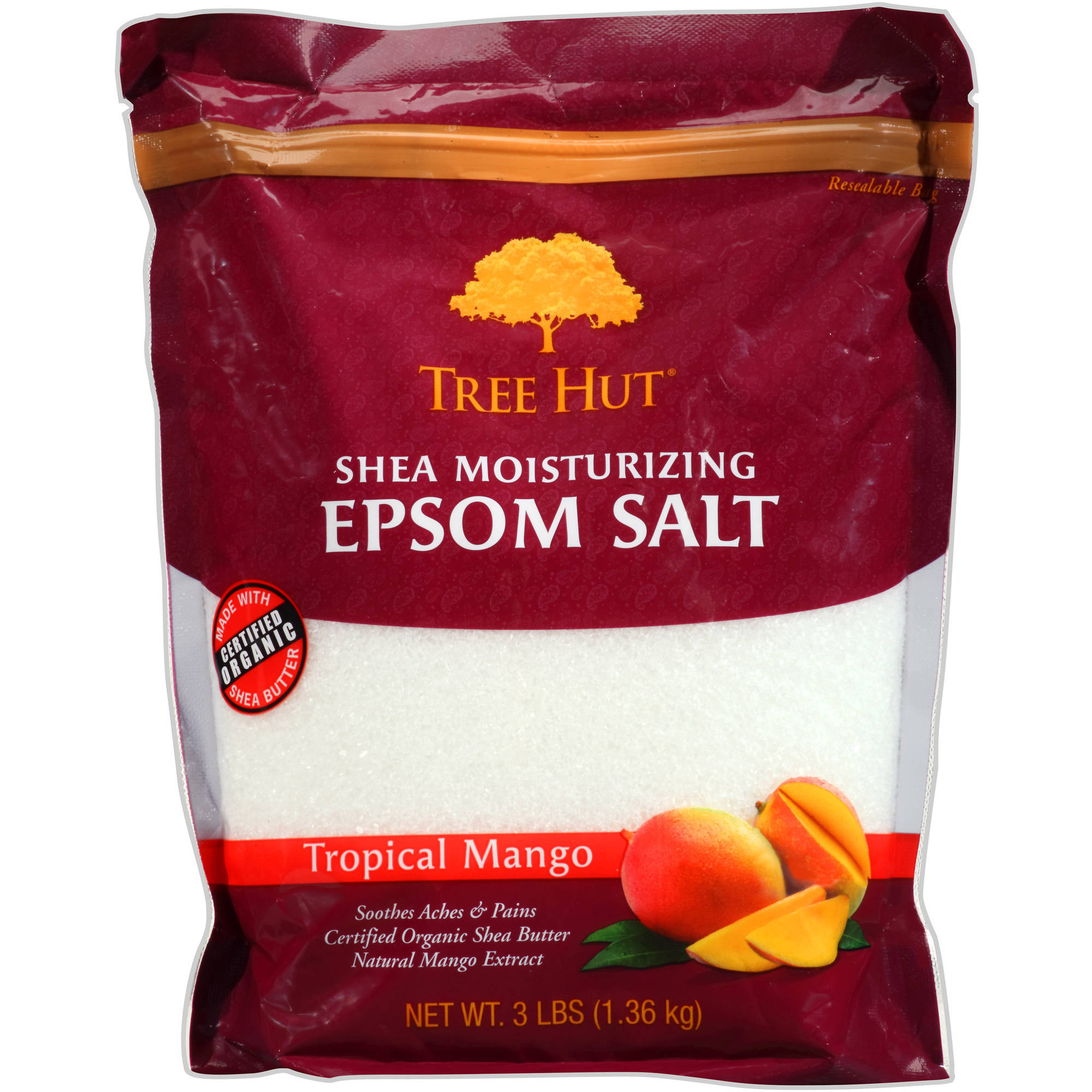 Tree Hut Shea Moisturizing Tropical Mango Epsom Salt, 3 lbs