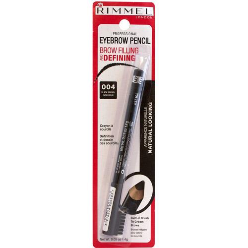 Rimmel Professional Eyebrow Pencil, 004 Black Brown, 0.05 oz