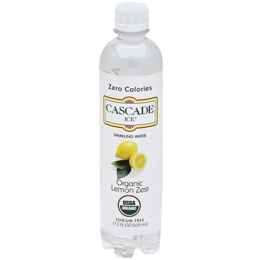 Cascade Ice Organic Lemon Zest Sparkling Water, 17.2 fl oz, (Pack of 12) by