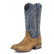 Stetson Western Boots Mens Fish Scales Brown 12-020-8838-3605 BR
