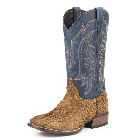 stetson western boots mens fish scales brown 12 020 8838