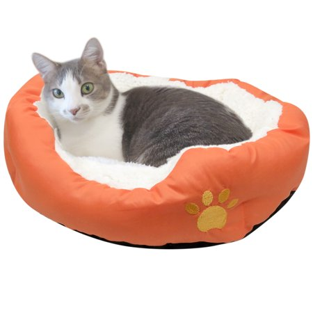 Evelots Soft Pet Bed for Cats & Dogs, Small Dog Bed, Assorted Colors, Orange