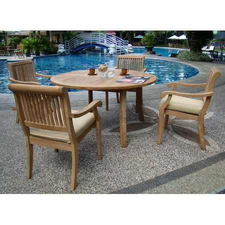 Teak Dining Set:4 Seater 5 Pc - 52