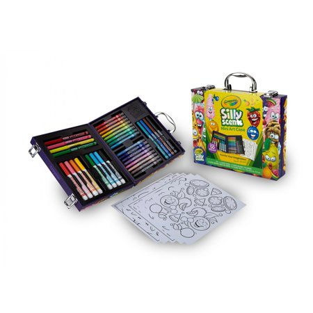 Crayola Silly Scents Mini Inspiration Art Case, 50+ Pieces